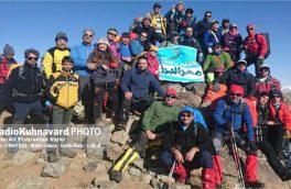 صعود باشگاه کوهنوردی مهر البرز به قله ۳۰۸۰ متری پورا