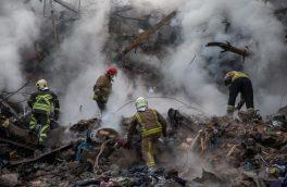 یکی از اقوام نزدیک کوهنوردان کرجی در زیر آوار ساختمان پلاسکو مبحوس شده است