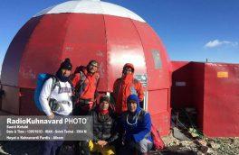 صعود اعضای هیات کوهنوردی و صعودهای ورزشی شهرستان فردیس استان البرز به قله ۳۹۶۴ متری توچال