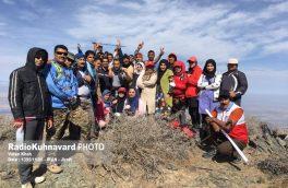 صعود مشترک کوهنوردان شوباد کهنوج و علوم پزشکی جیرفت